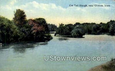 Cat Tail Slough - Clinton, Iowa IA Postcard