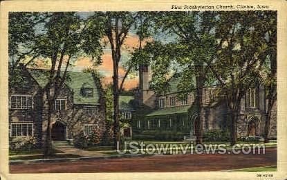 First Presbyterian Church - Clinton, Iowa IA Postcard