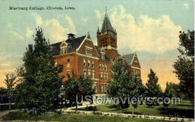 Wartburg College - Clinton, Iowa IA Postcard