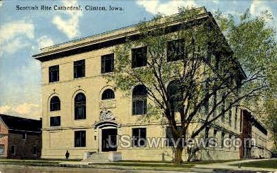 Scottish Rite Cathedral - Clinton, Iowa IA Postcard