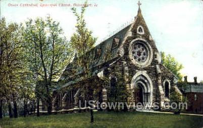 Grace Cathedral - Davenport, Iowa IA Postcard