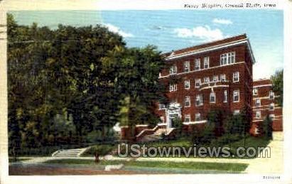 Mercy Hospital - Council Bluffs, Iowa IA Postcard