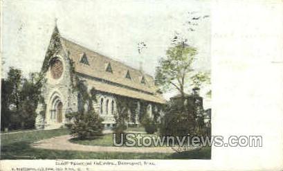 Grace Episcopal Cathedral - Davenport, Iowa IA Postcard