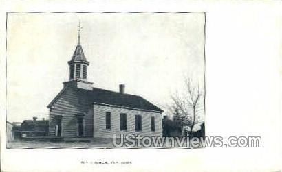 Ely Church - Iowa IA Postcard