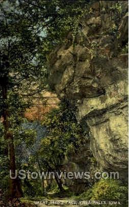 Great Stone Face - Iowa Falls Postcards, Iowa IA Postcard