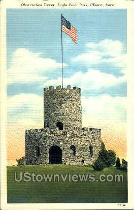 Eagle Point Park - Clinton, Iowa IA Postcard