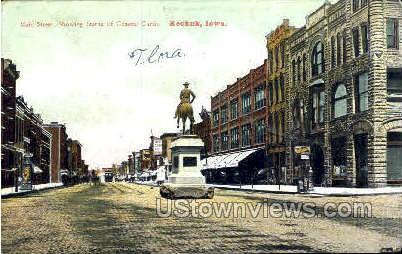 Main Street & General Curtis - Keokuk, Iowa IA Postcard