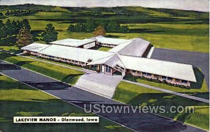 Lakeview Manor - Glenwood, Iowa IA Postcard