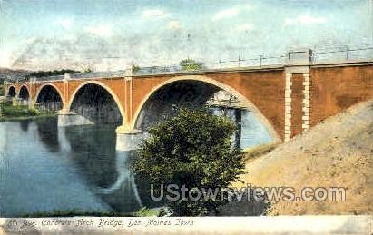 8th Ave Concrete Arch Bridge - Des Moines, Iowa IA Postcard
