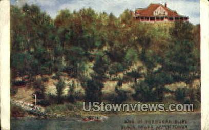 Black Hawks Watch Tower - Davenport, Iowa IA Postcard