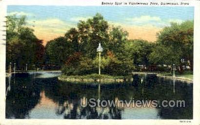 Vanderveer Park - Davenport, Iowa IA Postcard