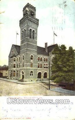 Post Office - Sioux City, Iowa IA Postcard