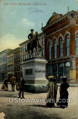 Curtis Monument - Keokuk, Iowa IA Postcard