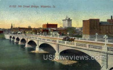 5th Street Bridge - Waterloo, Iowa IA Postcard