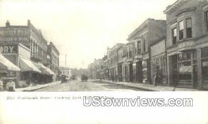 Coolbaugh Street Looking East - Red Oak, Iowa IA Postcard