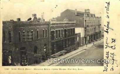 West Ninth Street - Sheldon, Iowa IA Postcard