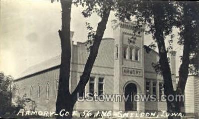 Armory Company E. - Sheldon, Iowa IA Postcard