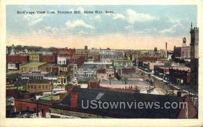 Birds Eye View from Prospect Hill - Sioux City, Iowa IA Postcard