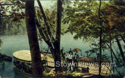 Hunters Ferry Sioux River - Sioux City, Iowa IA Postcard