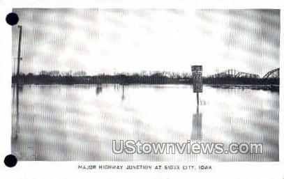 Major Highway Junction - Sioux City, Iowa IA Postcard