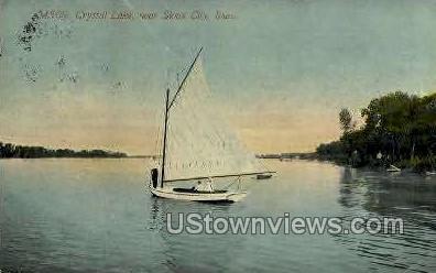 Crystal Lake - Sioux City, Iowa IA Postcard