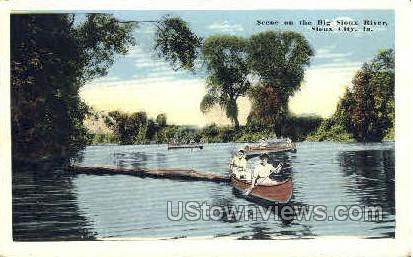 On the Big Sioux River - Sioux City, Iowa IA Postcard