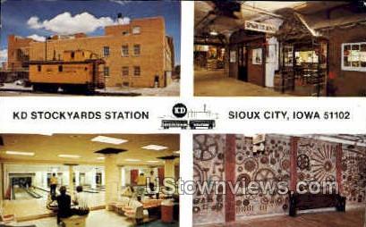 KD Stockyard Station - Sioux City, Iowa IA Postcard