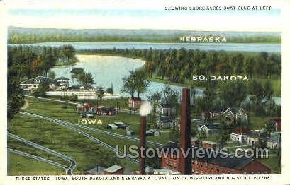 Iowa, South Dakota, Nebraska - Misc Postcard