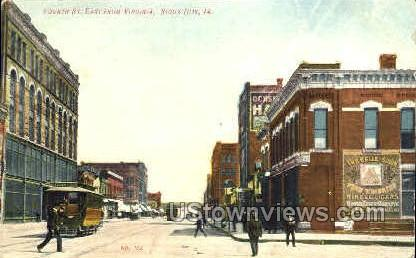 4th Street East - Sioux City, Iowa IA Postcard