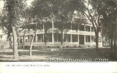 Riverside Club - Sioux City, Iowa IA Postcard