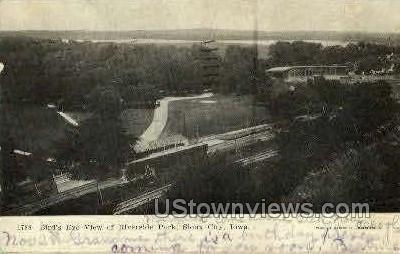 Birds Eye View of Riverside Park - Sioux City, Iowa IA Postcard
