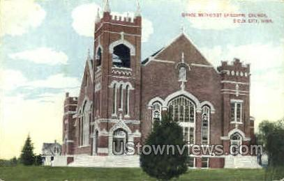 Grace Methodist Episcopal Church - Sioux City, Iowa IA Postcard