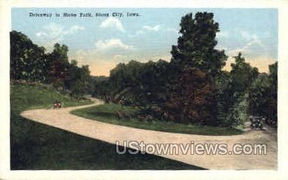 Driveway in Stone Park - Sioux City, Iowa IA Postcard