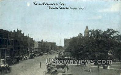 Buisiness Street - Red Oak, Iowa IA Postcard