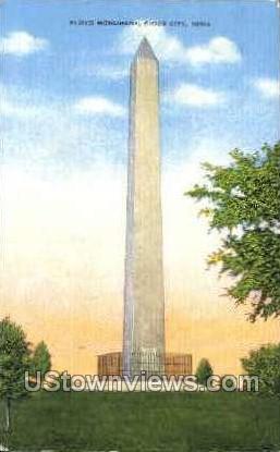 Floyd Monument - Sioux City, Iowa IA Postcard