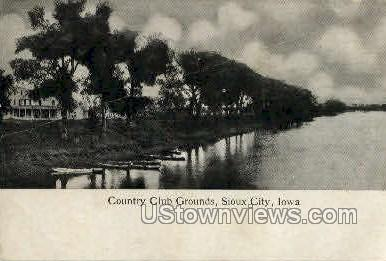 Coutry Club Grounds - Sioux City, Iowa IA Postcard