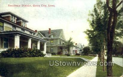 Residence District - Sioux City, Iowa IA Postcard