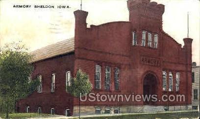 Armory - Sheldon, Iowa IA Postcard