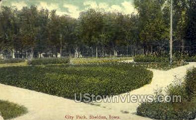 City Park - Sheldon, Iowa IA Postcard
