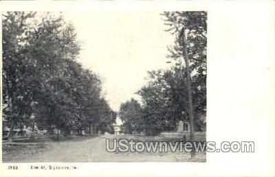 Elm Street - Sigourney, Iowa IA Postcard