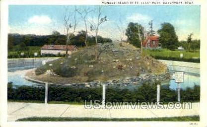 Monkey Island in Fejevary Park - Davenport, Iowa IA Postcard