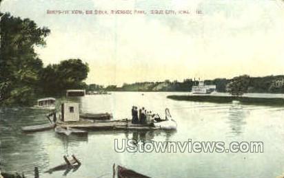 Big Sioux Riverside Park - Sioux City, Iowa IA Postcard