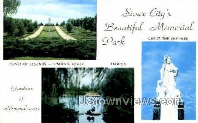 Memorial Park - Sioux City, Iowa IA Postcard