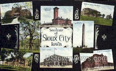 Souvenir - Sioux City, Iowa IA Postcard