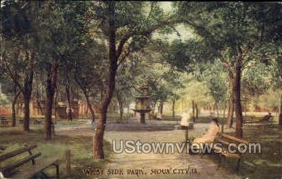 West Side Park - Sioux City, Iowa IA Postcard