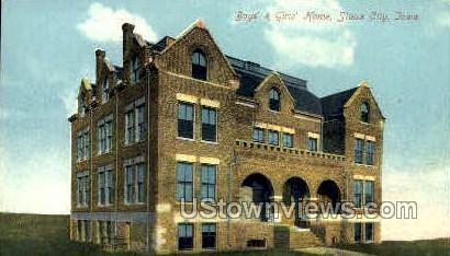 Boys and Girls Home - Sioux City, Iowa IA Postcard