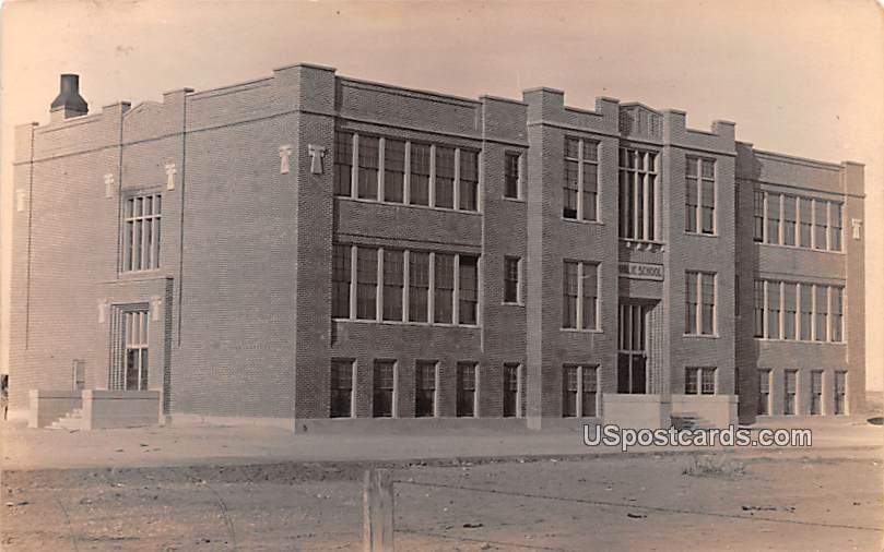 Public School - Aberdeen, Idaho ID Postcard