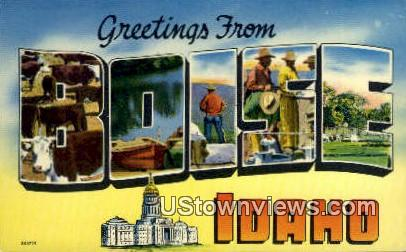Greetings from Boise - Idaho ID Postcard