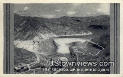 Great Arrow Rock Dam - Boise, Idaho ID Postcard
