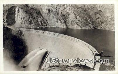 Real Photo - Arrow Rock Dam - Boise, Idaho ID Postcard